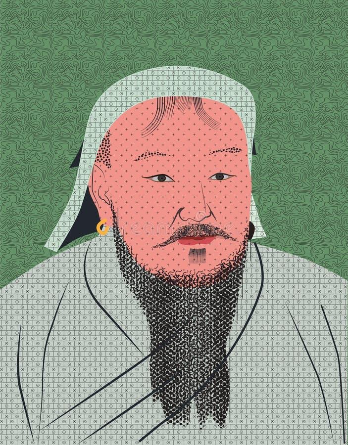 Genghis grand Khan illustration libre de droits