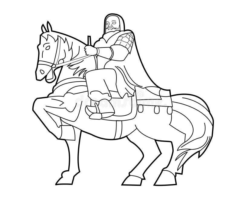 Genghis Khan illustration libre de droits