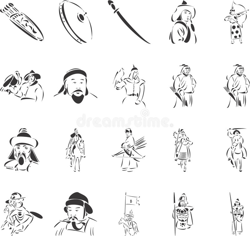 Download Genghis Khan stock vector. Image of armor, archer, medieval - 6912538