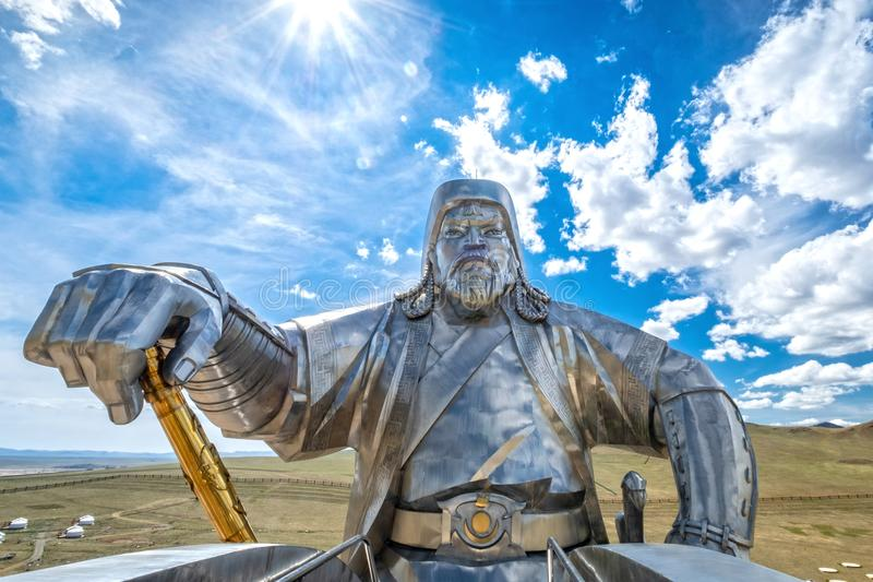Genghis Khan equestrian statue 2008 stock photography