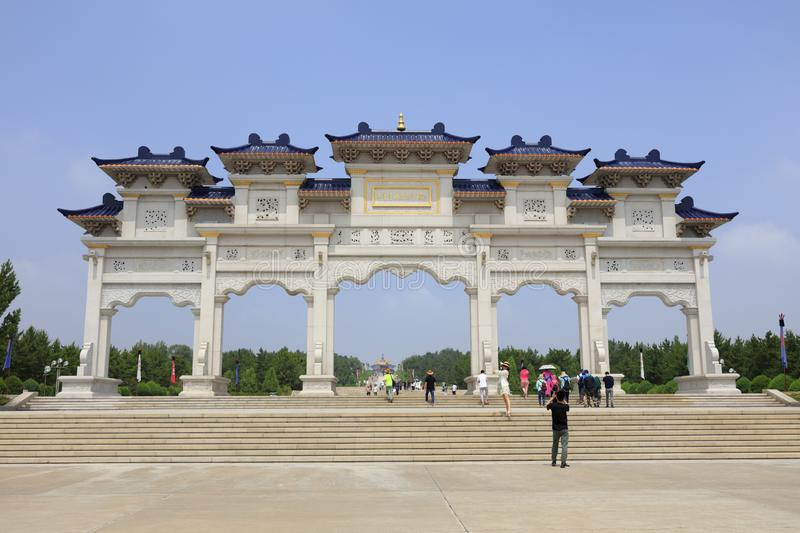 Gate of genghis khan mausoleum, adobe rgb royalty free stock image