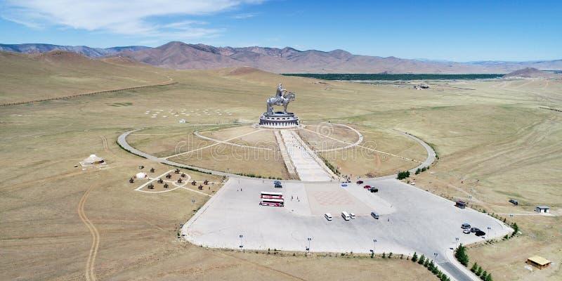 Genghis khan memorial. Chinghis khaan mongolia sculpture stock image