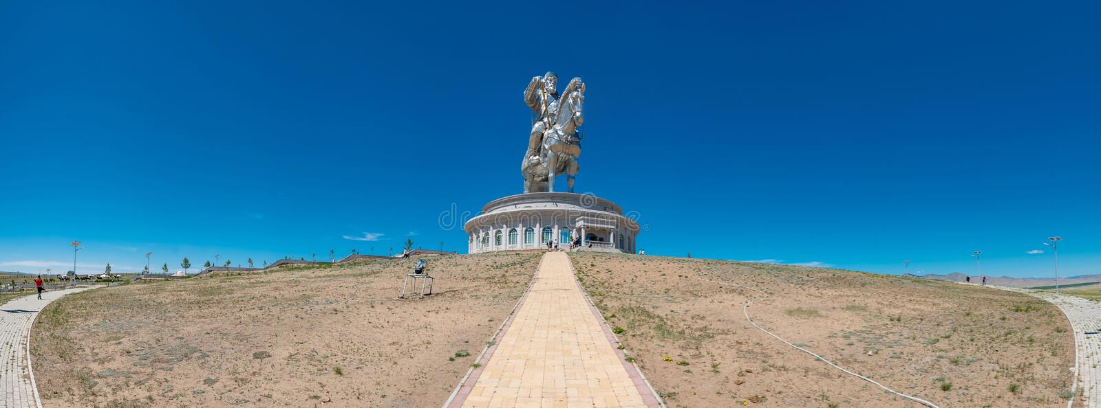 Genghis khan memorial royalty free stock photography