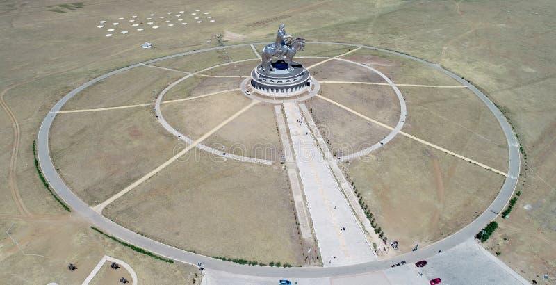 Genghis khan memorial. Chinghis khaan mongolia sculpture stock images