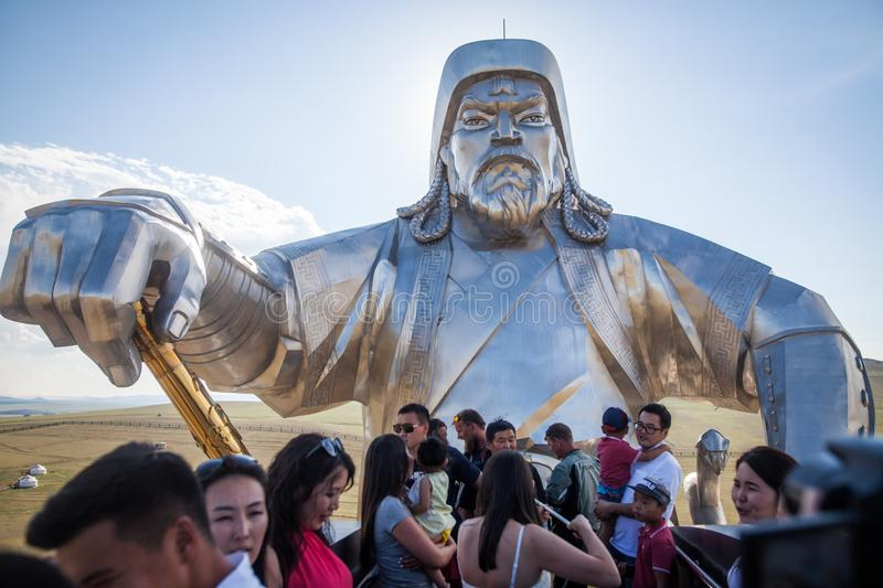 Genghis Khan Monument stockfotos