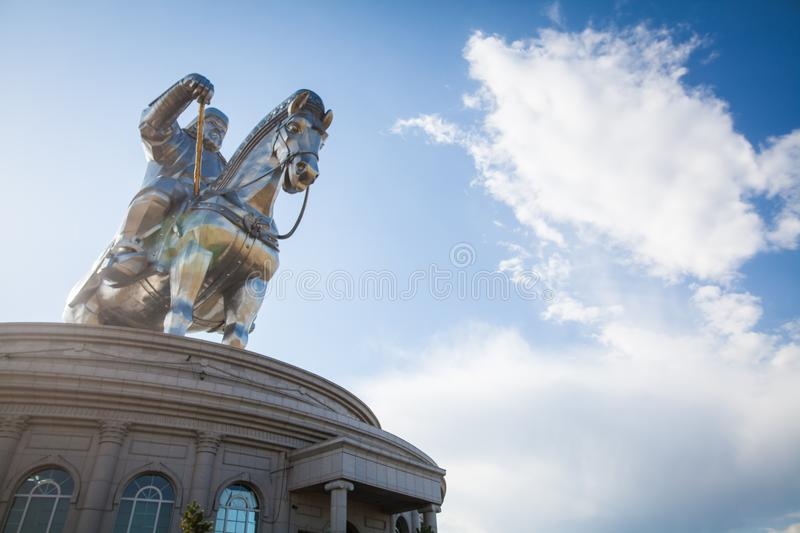 Genghis Khan Monument lizenzfreie stockfotos
