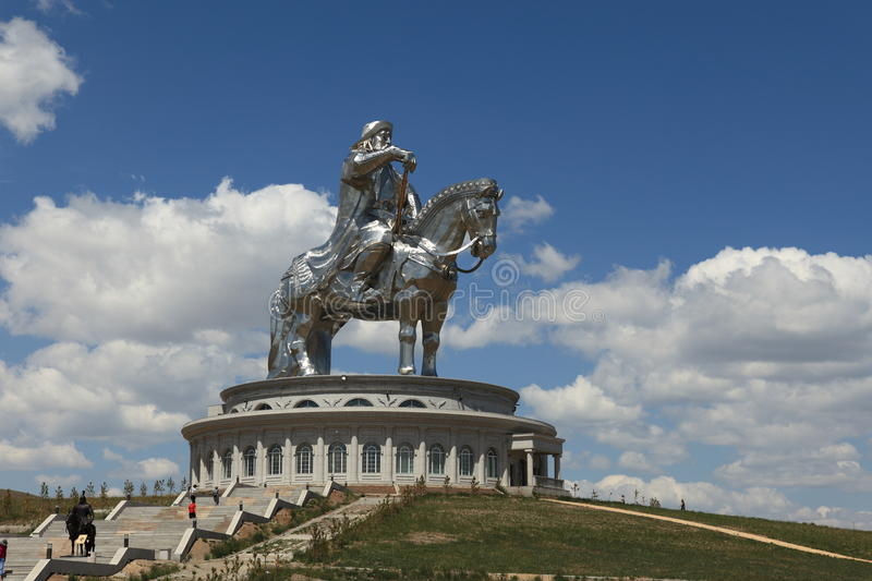 Genghis Khan Monument photographie stock libre de droits