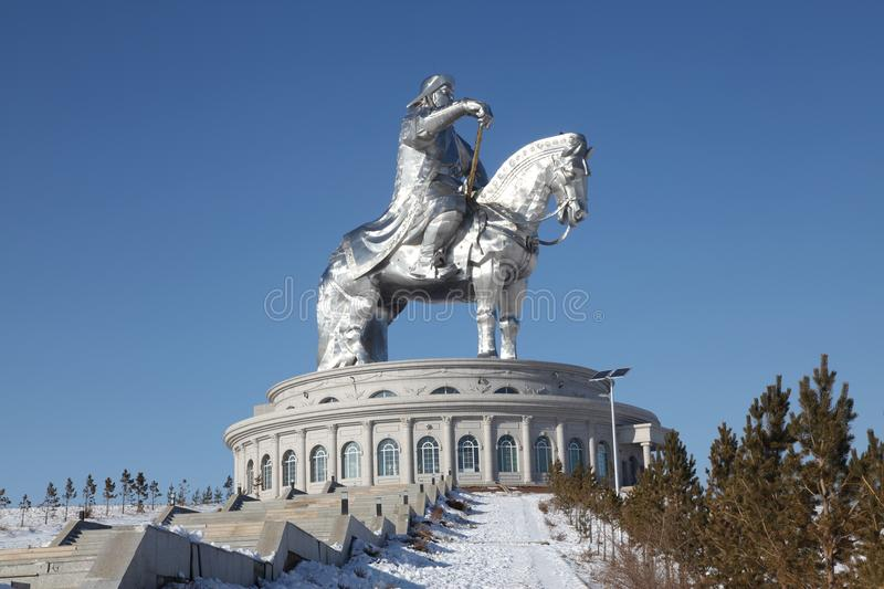 Genghis Khan monument in Ulaanbaator, Mongolia royalty free stock images
