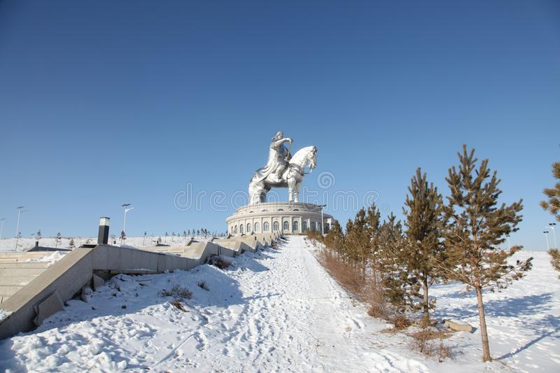 Genghis Khan monument in Ulaanbaator, Mongolia royalty free stock photography