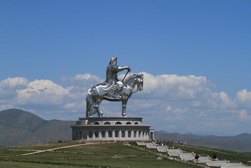 Genghis Khan Monument. At Zonjin Boldog Mongolia stock photo