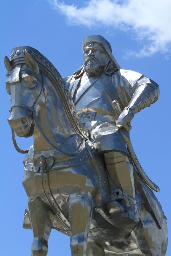 Genghis Khan Monument. At Zonjin Boldog Mongolia stock photos