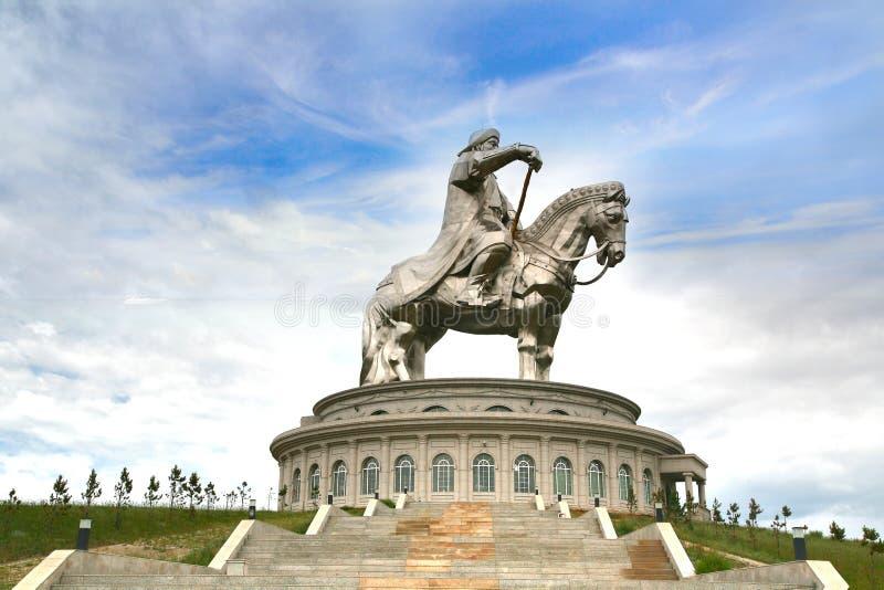 Genghis Khan Statue Complex a Tsonjin Boldogeast del Ulaanbaatar capitale mongolo fotografia stock