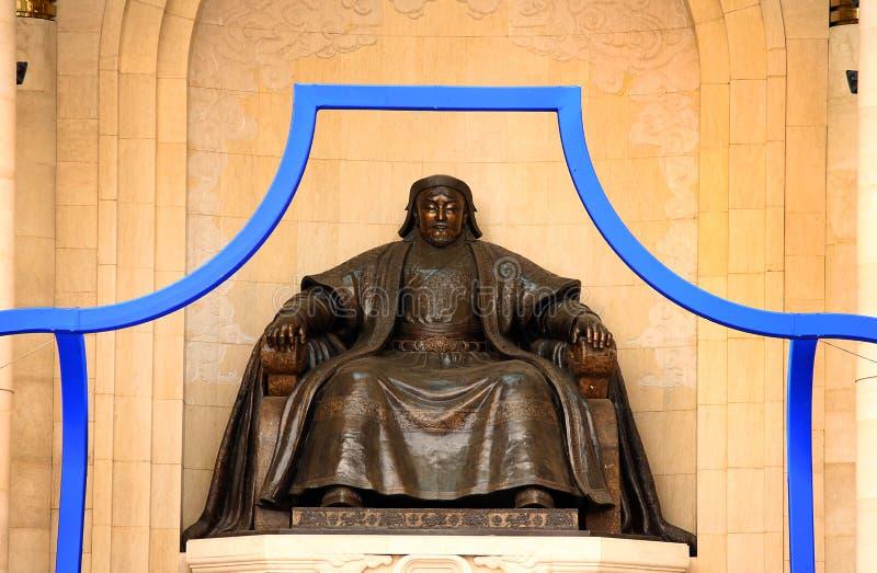 Genghis Khan Statue, place de Sukhbaatar images libres de droits