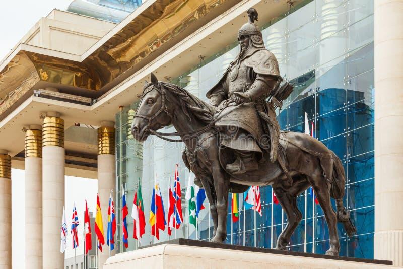 Genghis Khan Statue, Ulaanbaatar stock image