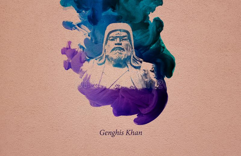 Emperor Genghis Khan vector illustration