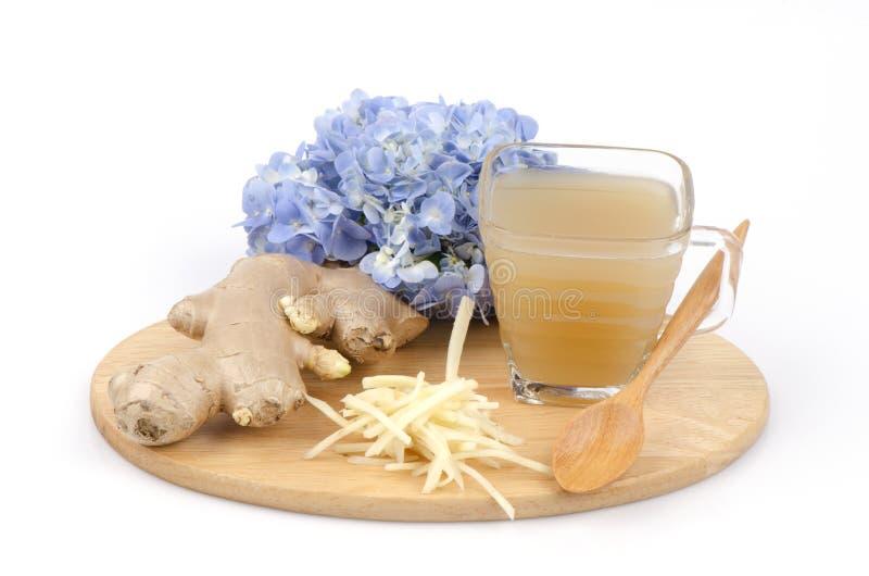 Gengibre, Ginger Water (officinale Roscoe do Zingiber.). foto de stock