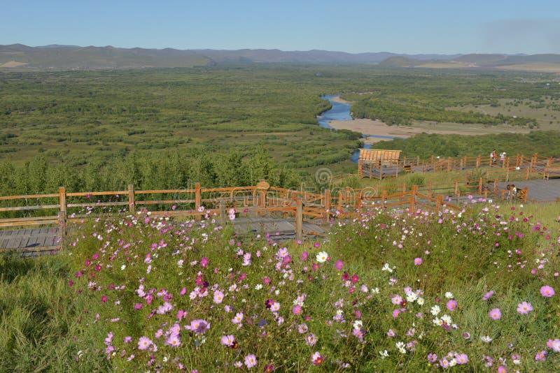 Genhe-Sumpfgebiet von Innere Mongolei stockfoto