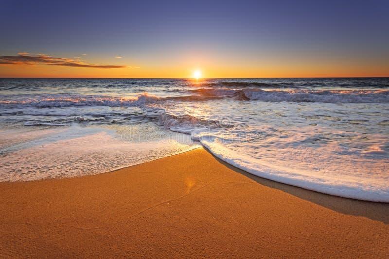 Genialna ocean plaża fotografia royalty free