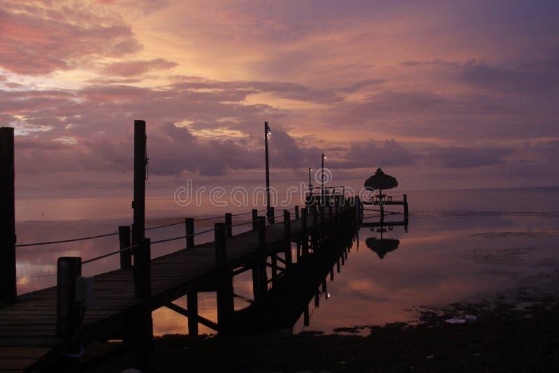 Genialny wschód słońca przy Trawiastymi kluczami, Floryda obrazy royalty free