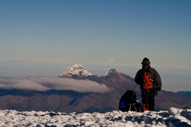 Genießen Sie das Gipfel stockbilder