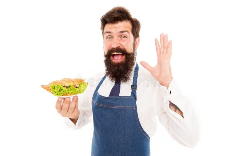 Genießen Sie den Geschmack der Diät richtig Weißer Diätexperte Happy-Cook Hold-Gericht Diätkost Ernährung und Gesundheit stockfotografie