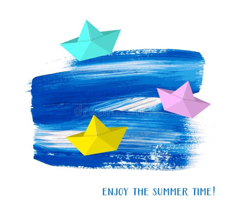 Genießen Sie die Sommerzeitkarte lizenzfreie abbildung