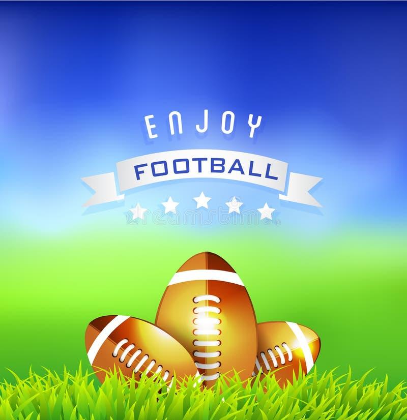 Genießen Sie Fußball-amerikanischen Zeit-Hintergrund vektor abbildung