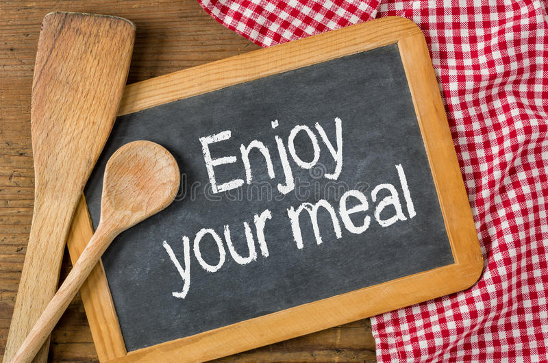 Genießen Sie Ihre Mahlzeit stockfoto