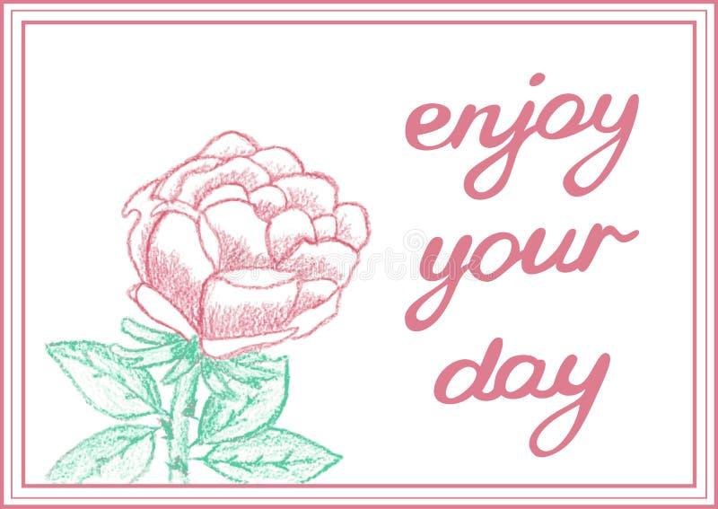 Genießen Sie Ihren Tag Inspirierend leichte Karte mit stock abbildung