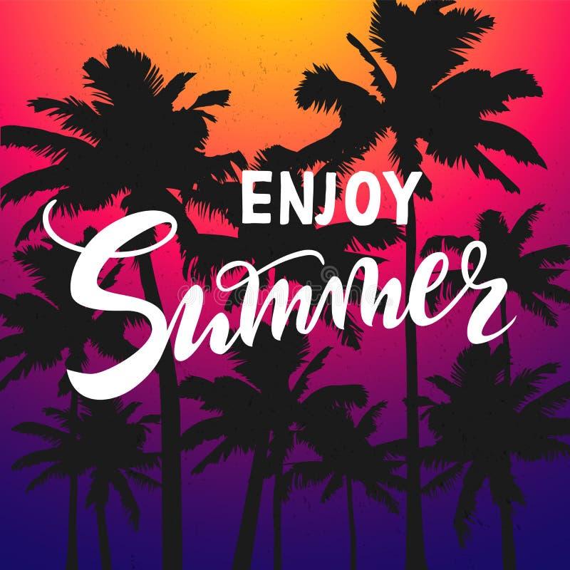 Genießen Sie Sommertapete, Spaß, Partei, Hintergrund, Bild, Kunst, Entwurf, Reise, Plakat, Ereignis vektor abbildung