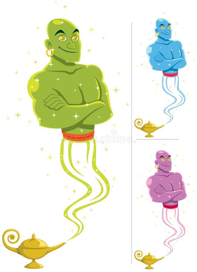 Genie royalty free illustration