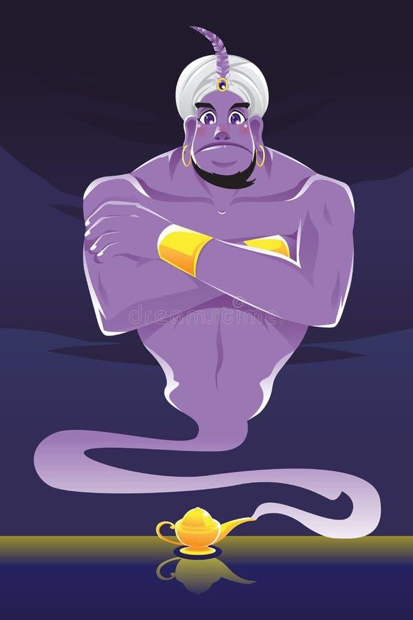 Download Genie stock vector. Illustration of tale, genie, turban - 25955233