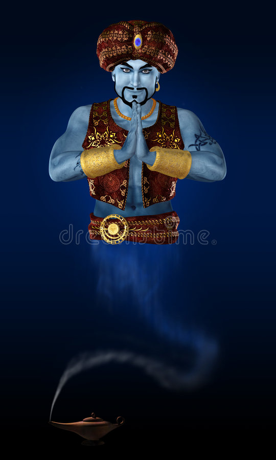 Genie. vector illustratie