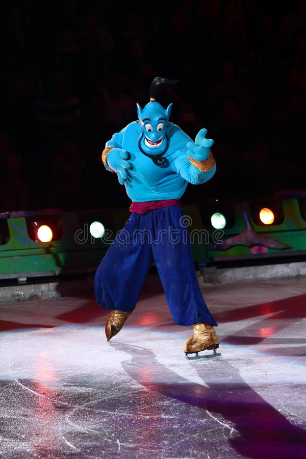 Genie of Aladdin. Philippines - December 26, 2012. Genie in Disney On Ice: Princesses & Heroes at Smart Araneta, Cubao Quezon City stock images