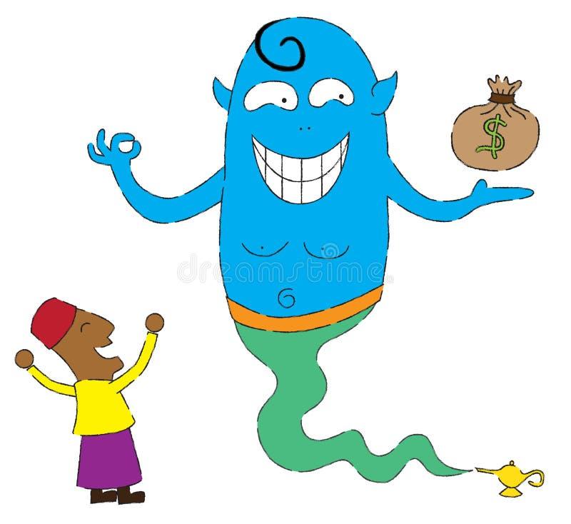 Genie, as you wish stock illustration