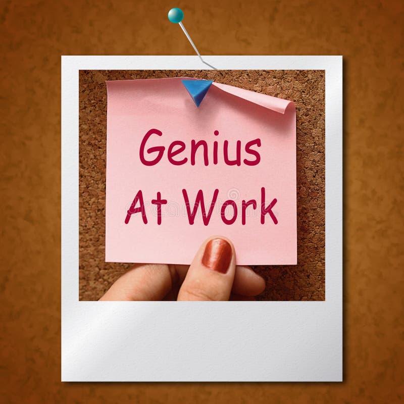 Genie bij het Werknota Means Do Not Disturb vector illustratie