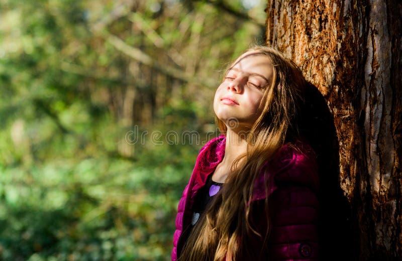 Genie?en der Natur Ruhiger Umweltgarten Kindernettes fantastisches Kind Zeit im Park verbringen Erforschen Sie Garten Exkursion z lizenzfreies stockbild