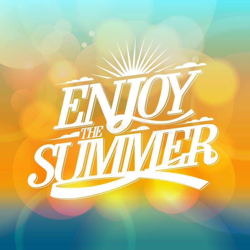 Geniet van de de zomer heldere affiche royalty-vrije illustratie