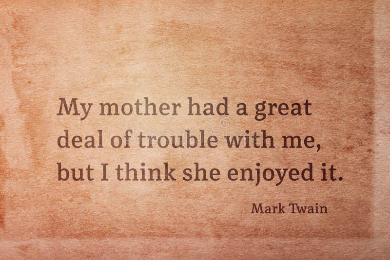 Geniet van probleem Twain royalty-vrije stock fotografie