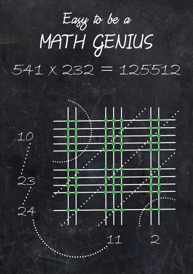 Genio de la matemáticas imágenes de archivo libres de regalías