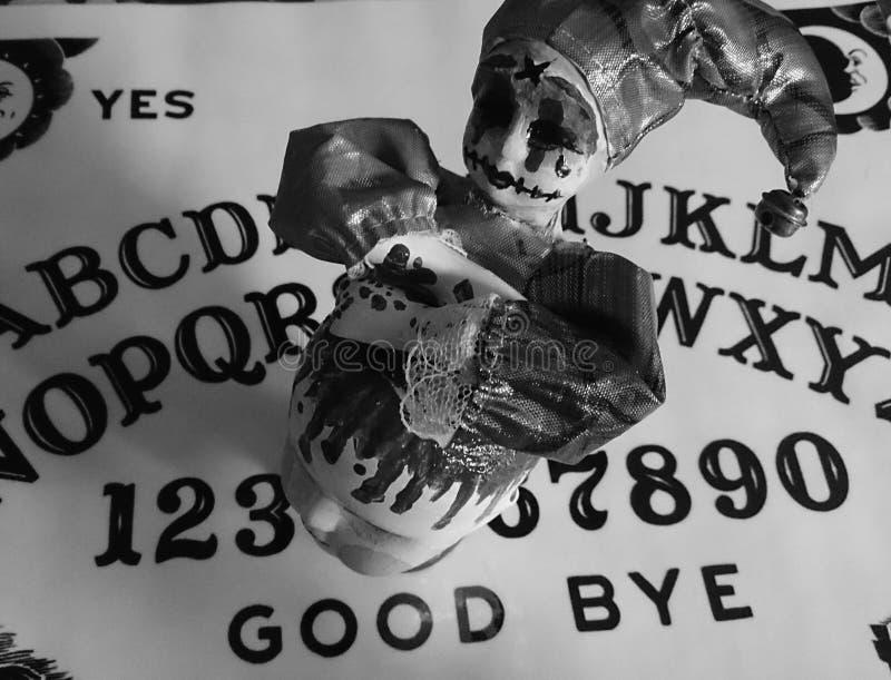 Genio dei genii dell'arlecchino di Ouija immagine stock libera da diritti