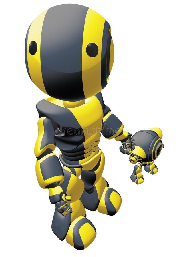 Genitore del robot illustrazione vettoriale