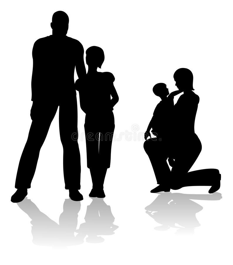 Genitori con i bambini illustrazione vettoriale