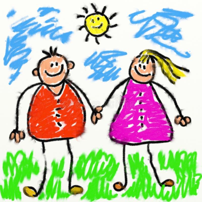 Genitori di Childs illustrazione vettoriale
