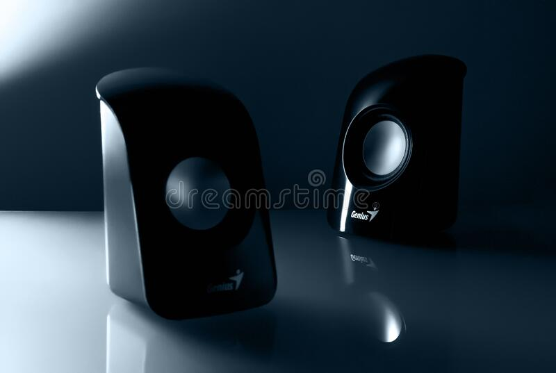 Genius Black Multimedia Speaker Free Public Domain Cc0 Image