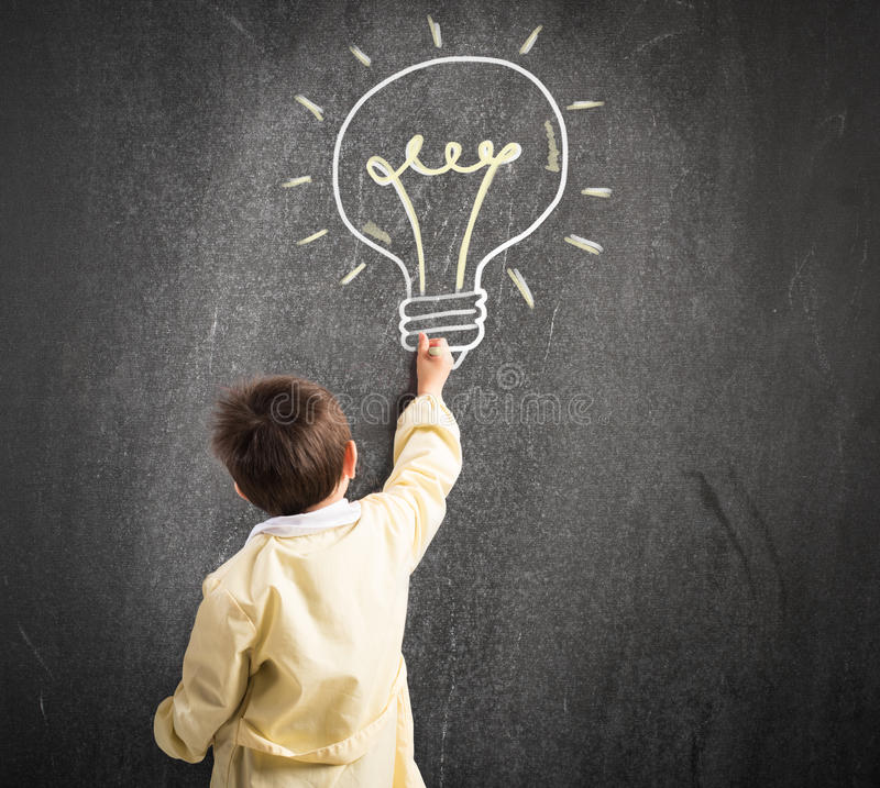 Genius child royalty free stock images