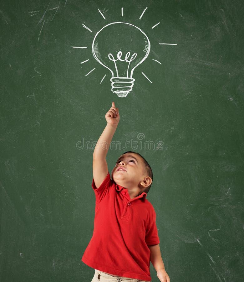 Genius child royalty free stock photo