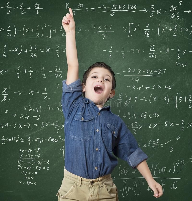 Genius child royalty free stock image