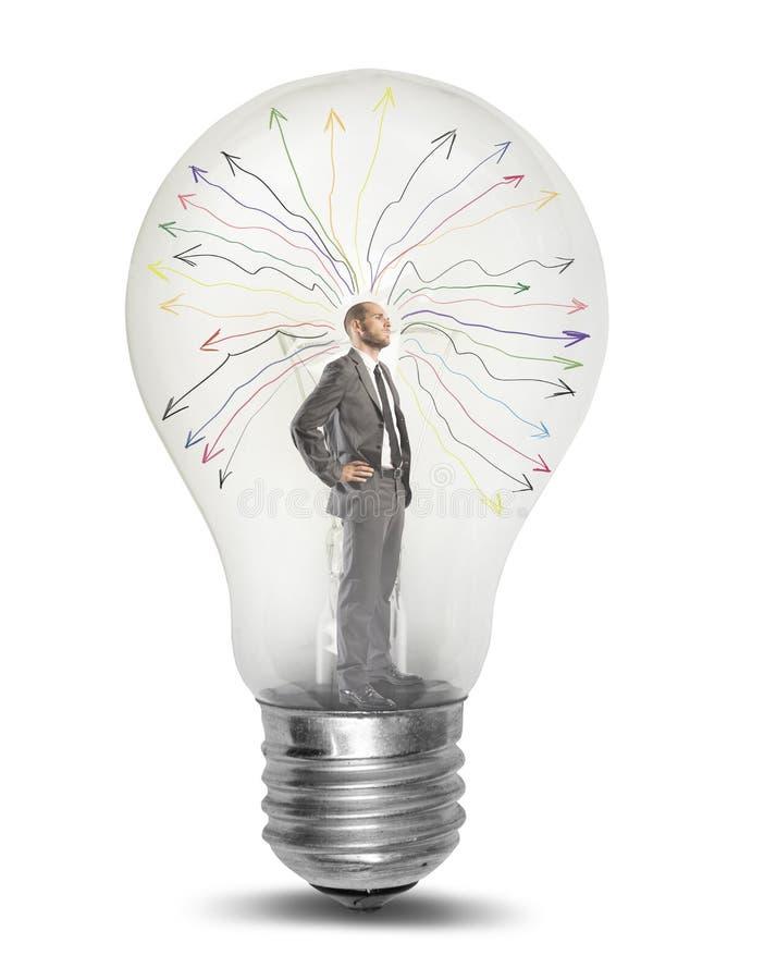 Download Genius stock photo. Image of intelligence, lightbulb - 33609022