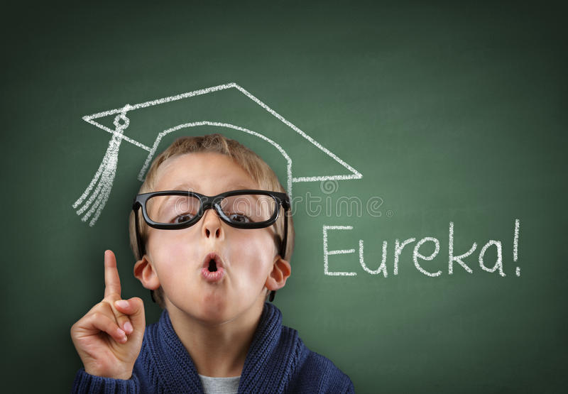 Genius in education stock photography